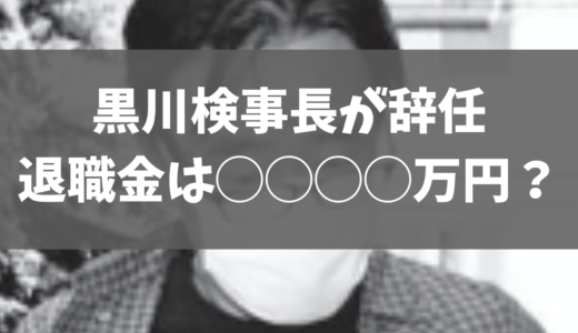 黒川検事長の退職金はいくらかを予想。懲戒免職ではなく辞任で満額支給か?